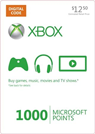 Xbox LIVE 1000 Microsoft Points [Online Game Code]