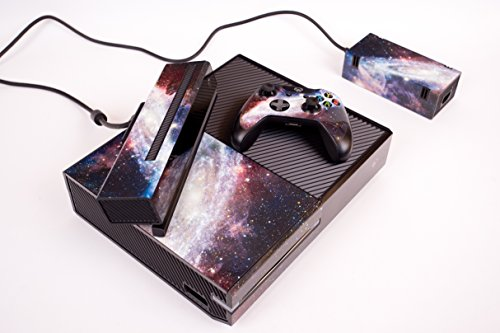 Designer Skin Sticker for the Xbox One Console With Two Wireless Controller Decals Nebula new star wars power stormtrooper skin sticker for xbox one console 2pcs controller skin kinect protective cover