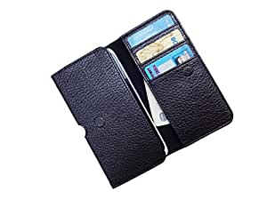 ATV PU Leather Brown Pouch Case Flip Cover For Samsung Galaxy J3 Pro