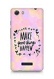AMEZ make good things happen Back Cover For Micromax Unite 3