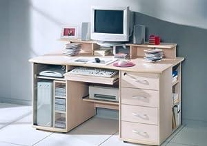 Schreibtisch computertisch 87c11h66 ahorn for Computertisch ahorn