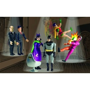 Buy Batman Box Set of 6 Poseable Action Figures (3″) and JLA Chair: Batman, Robin, Catwoman, Two-Face, Bruce Wayne & Alfred