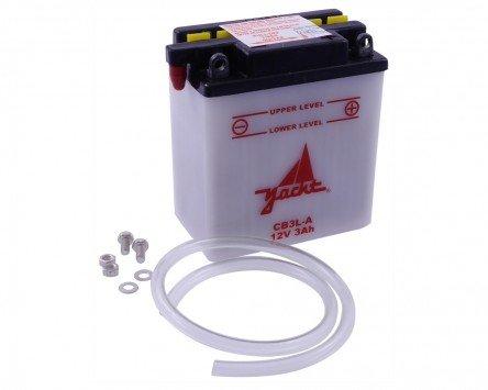 Batterie YACHT CB3L-A / YB3L-A für FANTIC MOTOR Raider LC 125 ccm [ inkl.7.50 EUR Batteriepfand ]