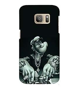 printtech Popeye Cartoon Casino Back Case Cover for Samsung Galaxy S7 edge / Samsung Galaxy S7 edge Duos with dual-SIM card slots