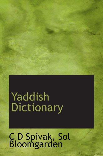 Yaddish Dictionary