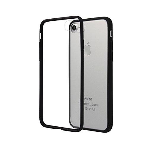 Cover-iPhone-7-Choetech-DOPPIA-PROTEZIONE-Custodia-Protettiva-per-iPhone-7-in-Policarbonato-PC-fuso-con-Tpu-Antiscivolo-Trasparente-con-bordi-neri