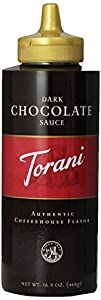 Torani Dark Chocolate Sauce, 16.5-Ounce Bottles (Pack of 6)