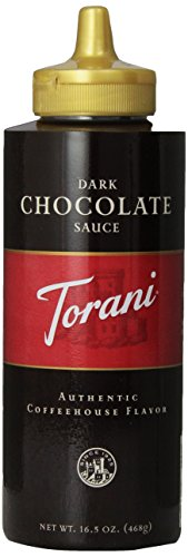 Torani Dark Chocolate Sauce, 16.5 Ounce (Pack Of 6)