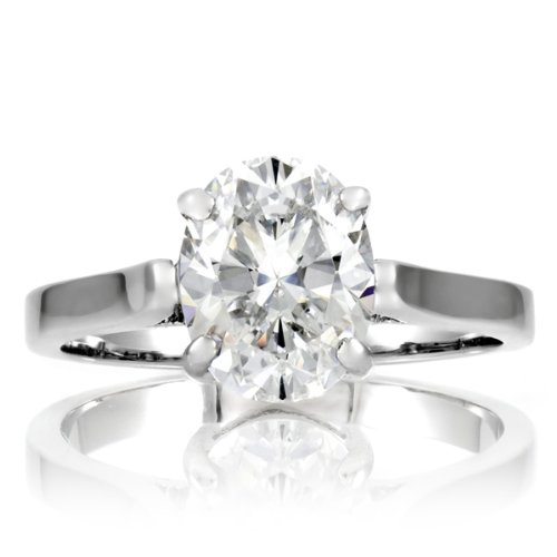 Anastasia's Oval Cut Solitaire Engagement Ring for all ring sizes