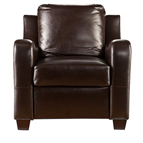 где купить Southern Enterprises Montfort Stationary Chair in Chocolate дешево