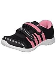 Acto Black & Pink Synthetic Sports Shoes For Women
