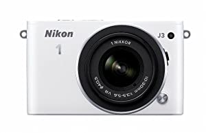 Nikon 1 J3 14.2 MP HD Digital Camera System with 10-30mm VR and 30-110mm VR 1 NIKKOR Lenses (White)
