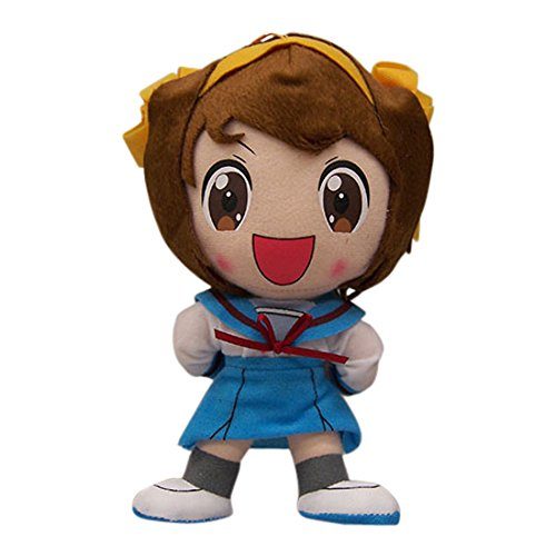 "Great Eastern The Melancholy of Haruhi Suzumiya 8"" Chan Plush with Yellow Bow"