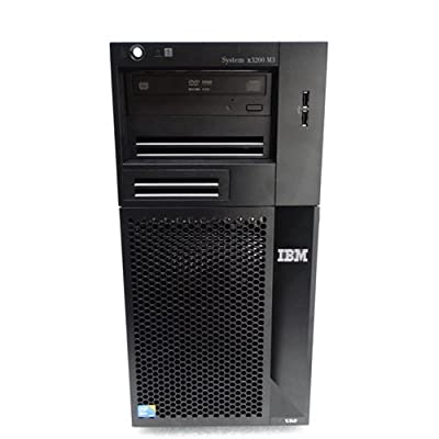 IBM System x3200 M3 tower server, Xeon X3430 2.4GHz quad core CPU, 12GB memory, 1x 250GB hard drive, 3x Hard Drive Trays with Screws, Windows 7 Professional Installed