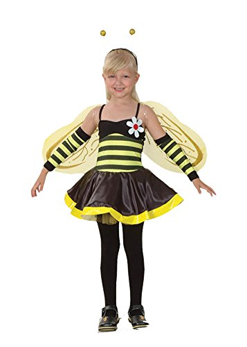 Bristol Novelty Value Costume: Girls Bumble Bee (Large 10-12 Yrs)