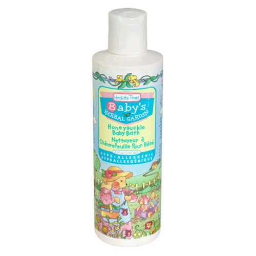 Healthy Times Baby Bath Honeysuckle, 8 Fluid Ounce