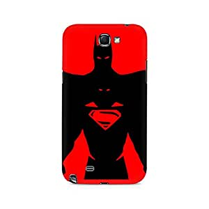 Ebby Superman within Batman Premium Printed Case For Samsung Note 2