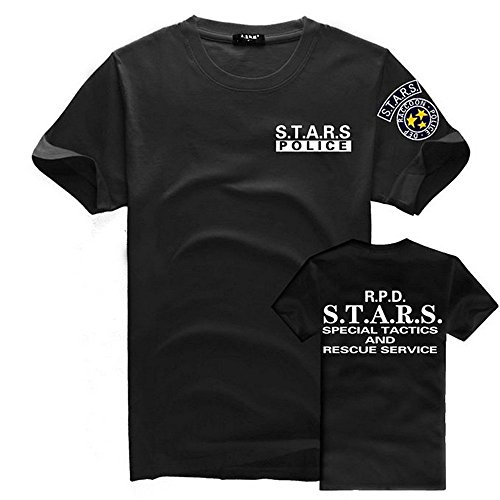Treask Resident Evil S.T.A.R.S Classic Logo T-shirt Short Tee