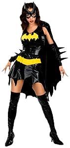 DC Comics Secret Wishes Sexy Deluxe Batgirl Adult Costume,Bat Girl Black,Medium