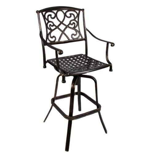 Best Choice Products® Outdoor Cast Aluminum Swivel Bar stool Patio Furniture Antique Copper Design