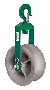 Greenlee 8012 Hook Sheave, 8000-Pound Capacity, 12-Inch