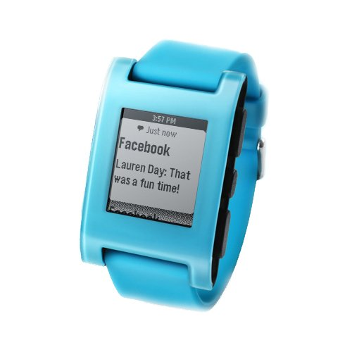 Pebble Smartwatch for iPhone and Android (Fly Blue)