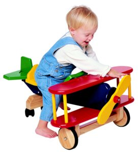 Amazon Com Wooden Ride On Airplane Toys Amp Games