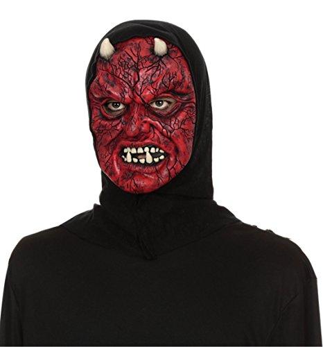 [Hooded Horrors Demonic Halloween Mask (Devil)] (Demonic Masks)