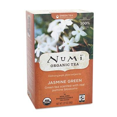 "Numi - 4 Pack - Organic Teas And Teasans 1.27Oz Jasmine Green 18/Box ""Product Category: Breakroom And Janitorial/Beverages & Snack Foods"""