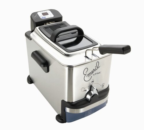 Emerilware by T-Fal 2.65 -Pound (3.3L) Stainless Steel Digital Immersion Fryer with Easy Clean System