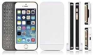DONZO Tasche / Case Ultra Slim inkl. Bluetooth Tastatur (deutsches Tastaturlayout, QWERTZ) für Apple iPhone 5 & iPhone 5S mit magnetischer Haftung - schwarz