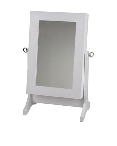 Lo+deModa Espejo Joyero Mini Blanco