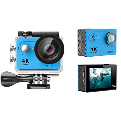 Sport Camera, TONSEE Waterproof H9 Ultra HD 4K WiFi 2.0 Inch Sport Camera Video Camcorder - Blue (High Speed Camera 5000 Fps compare prices)