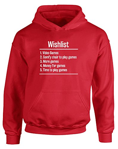 Video Games Wishlist, Kids Printed Hoodie - Fire Red/White 12-13 Years (Wargame Red Dragon Steam compare prices)