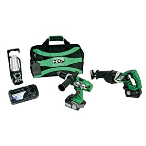 Hitachi KC18DAL 18-Volt 3-Piece Lithium-Ion Cordless Combo Kit