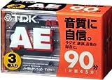 TDK オーディオカセットテープ AE 90分3巻パック [AE-90X3G]