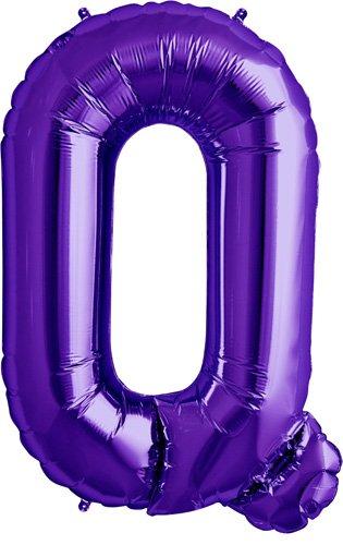 Letter Q - Purple Helium Foil Balloon - 34 inch