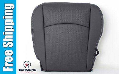 2012 Dodge Ram 2500 Laramie Crew-Cab - Driver Bottom Replacement Leather Seat Cover: Dark Gray (Dodge Ram 2500 Seat Cushion compare prices)