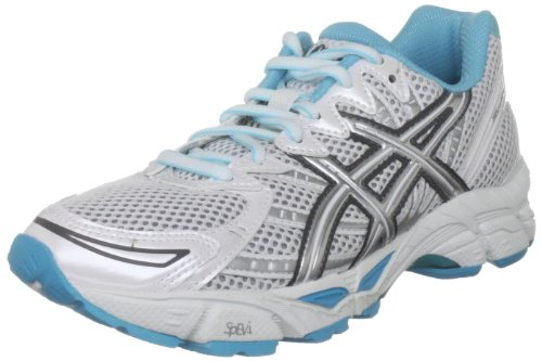 ASICS Women's Gel Virage White/Lightning/Capri Blue Trainer T274N 0191 4.5 UK