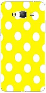 Snoogg Yellow Polka Dot Case Cover For Samsung Galaxy Grand Duos 2 G7106