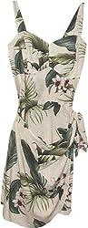 Wild Orchid - Hawaiian Sarong Dress in Cream - XL