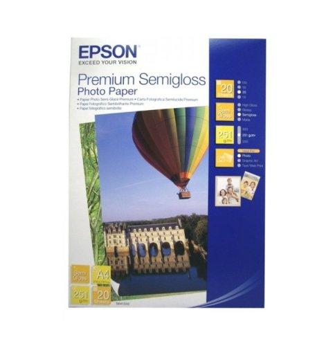 Epson S041332 Premium Semigloss Photo Paper DIN A4 251 g/m² 20 Sheets