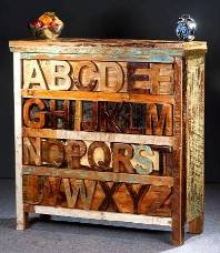 Vintage Kommode aus Recyclingholz / Kommoden & Fernsehtische