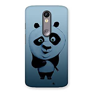 Ajay Enterprises Real Panda Puzzled Multicolor Back Case Cover for Moto X Force