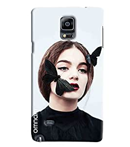 Omnam Girl With Butterfly Love Printed Designer Back Cover Case For Samsung Galaxy Note 4