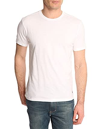 Polo Ralph Lauren Homme 2 Pack Crew-Neck T-Shirts, Blanc, Small