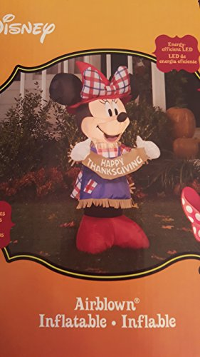 Gemmy Inflateables Holiday 70444 Air Blown Disney Minnie As Scarecrow Decor (Air Blown Inflatables)