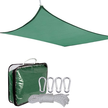 2x Oversized 18' Square Feet Green Outdoor Shade