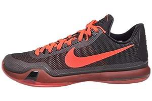 Nike Men's Kobe X, Black/Bright Crimson-Anthracite, 15 M US