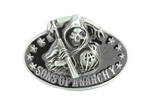 Deal Fashionista SAMCRO Black Sons of Anarchy Reaper Belt Buckle